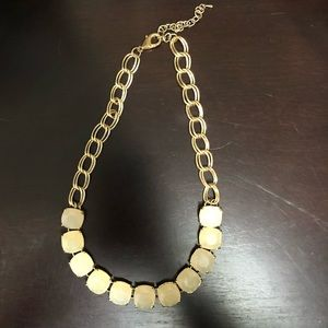 Gem Necklace w/ Gold Chain